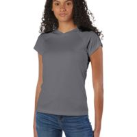 Ladies' 4.1 oz. Double Dry® V-Neck T-Shirt Thumbnail